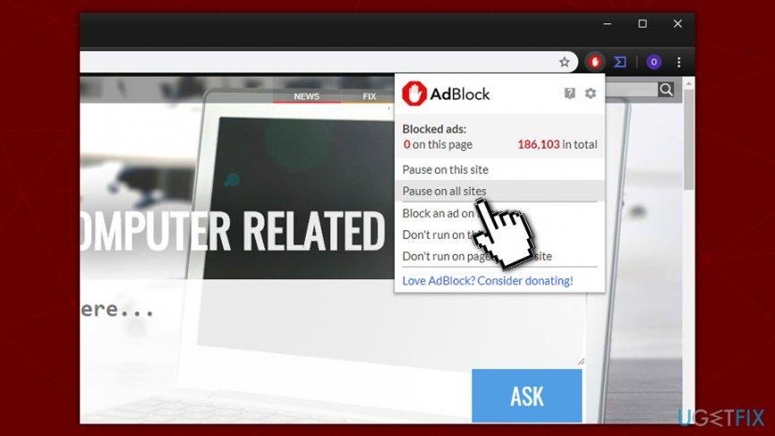 Disable ad-block