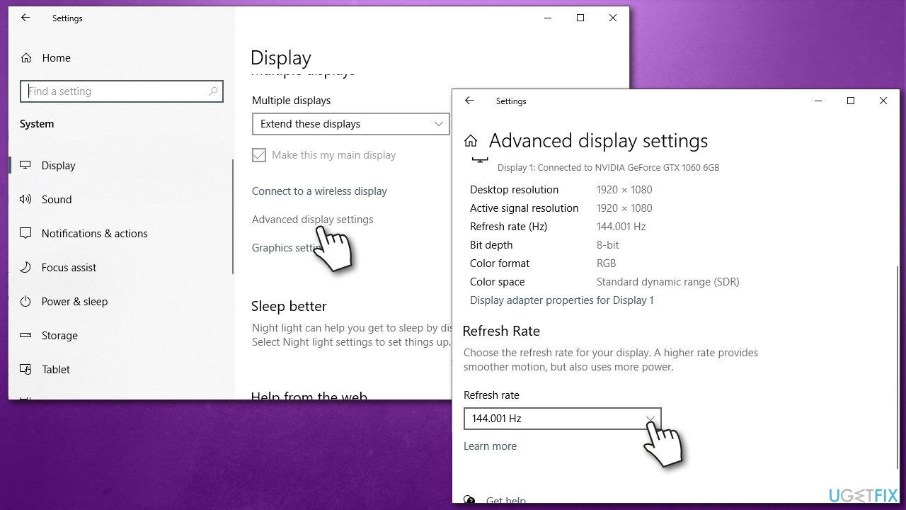 Check refresh rate of your monitor