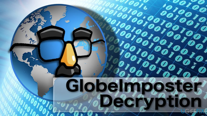 Image illustrating GlobeImposter ransomware virus