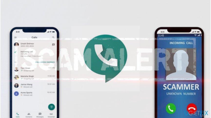 Illustrating Google Voice scam