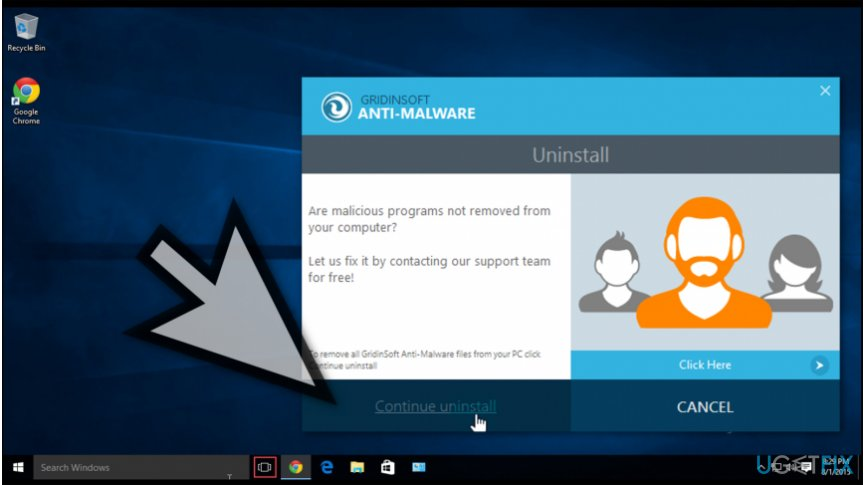 GridinSoft Anti-Malware uninstaller
