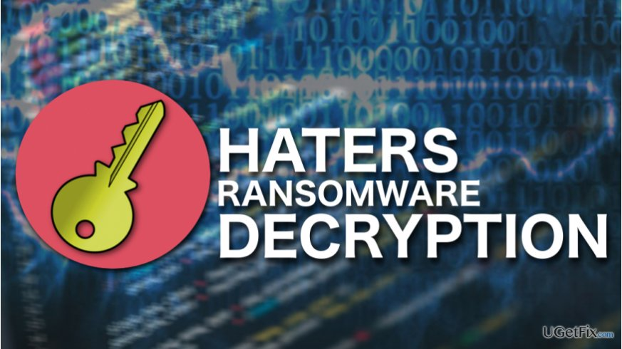 Haters ransomware decryption illustration