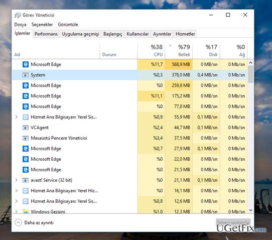 high disk and cpu usage windows 10