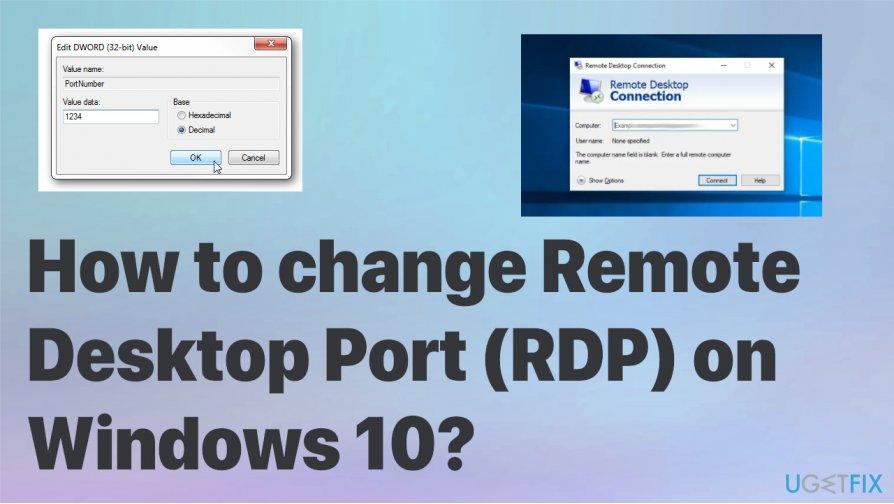 Change Remote Desktop Port on Windows 10