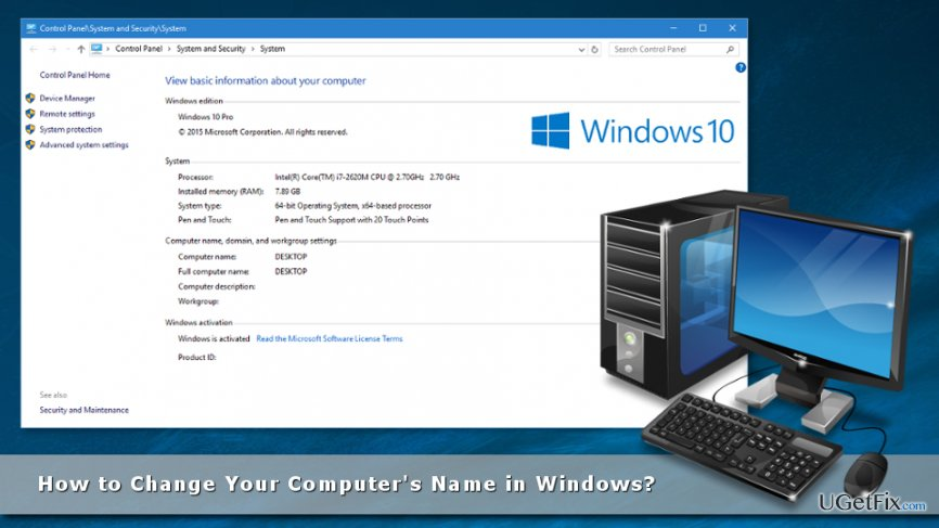 How to Change Your Computer's Name in Windows?