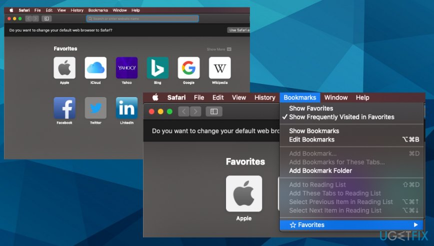Removing Bookmarks from Safari