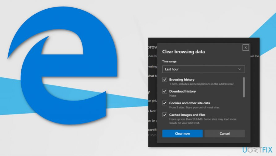 Microsoft Edge browser privacy settings