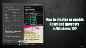 How to disable or enable taskbar's News and interests in Windows 10?