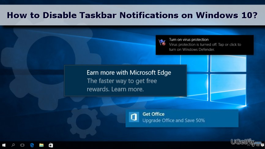 Turn Off Taskbar Notifications on Windows 10