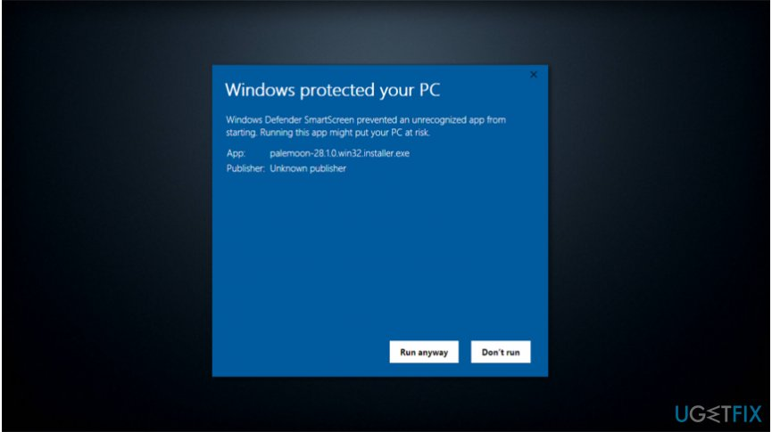 Windows Defender SmartScreen