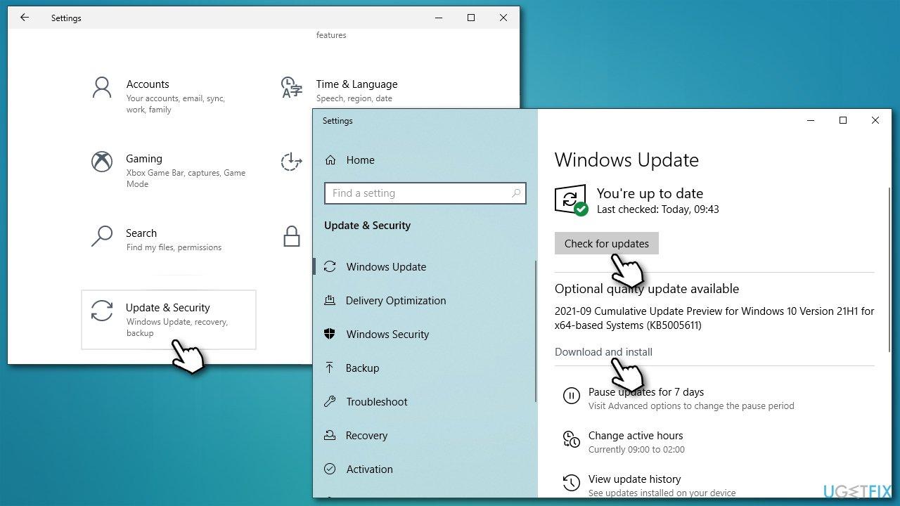 Install via Windows Update