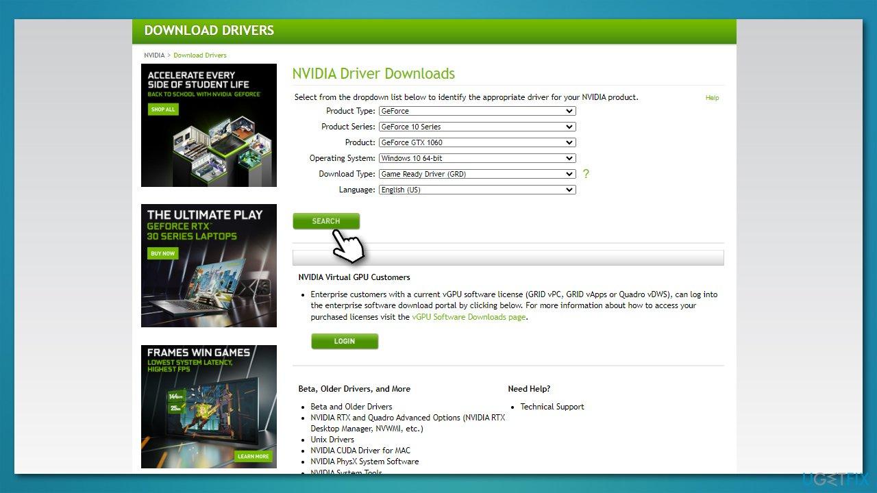 Install via manufacturer website