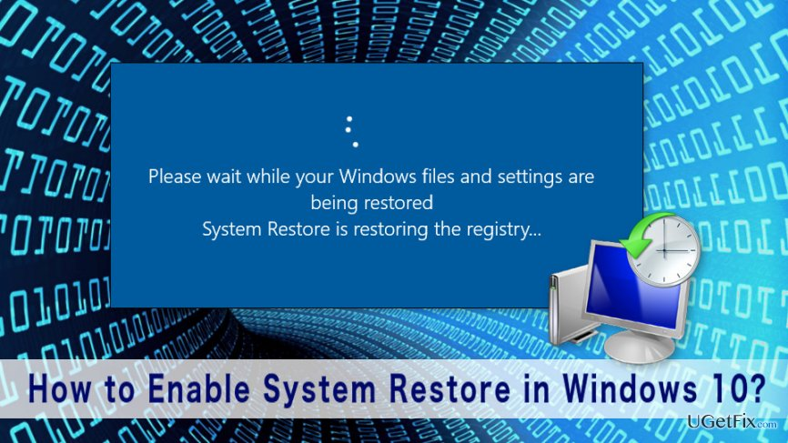 How to Enable System Restore in Windows 10