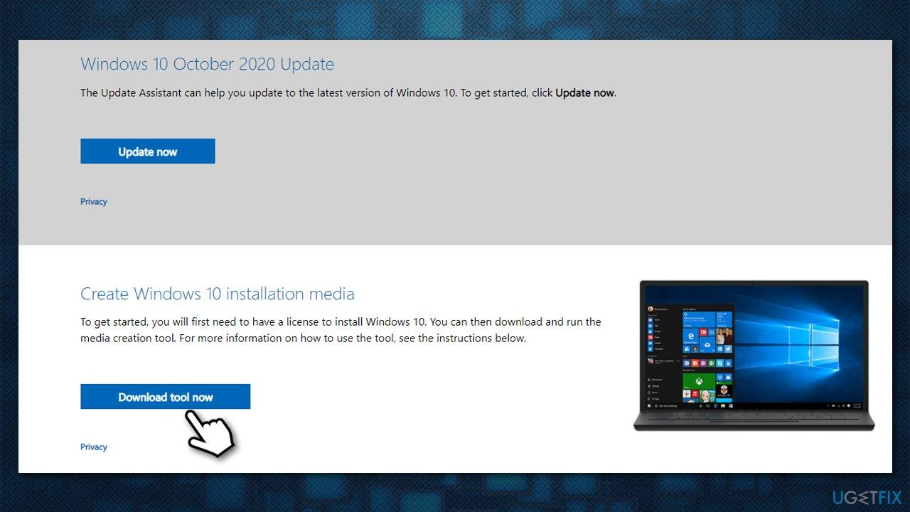 Download Windows installation files