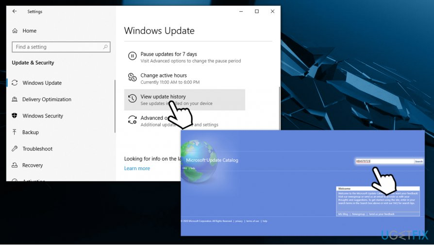 Install Windows updates manually