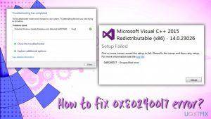 How to fix 0x80240017 error?