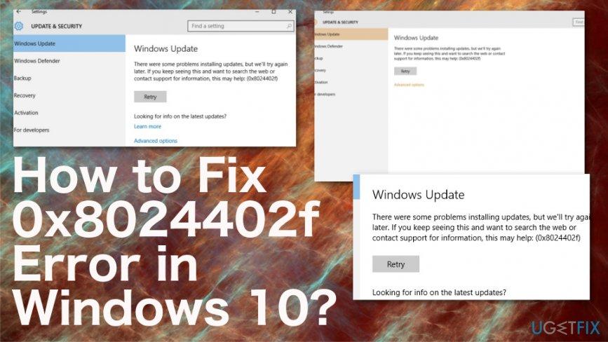 Fix 0x8024402f Error