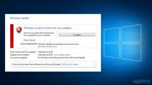 How to fix 0x8e5e03fb error in Windows 10?
