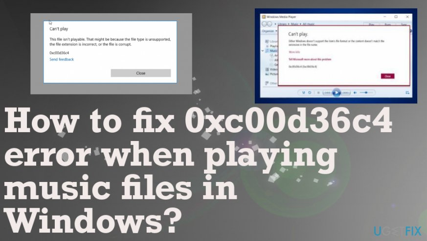How to fix audio and video file 0xc00d36c4 error