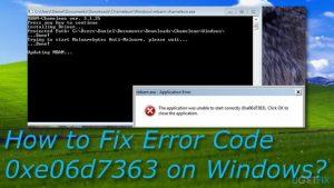 How to Fix Error Code 0xe06d7363 on Windows?