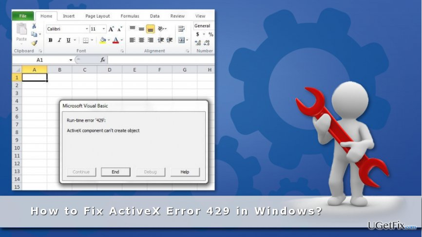 ActiveX Error 429 issue on MS Excel