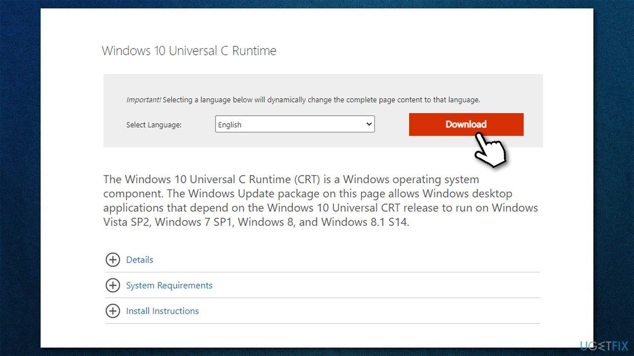 Download Universal C Runtime
