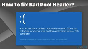 How to fix bad pool header?
