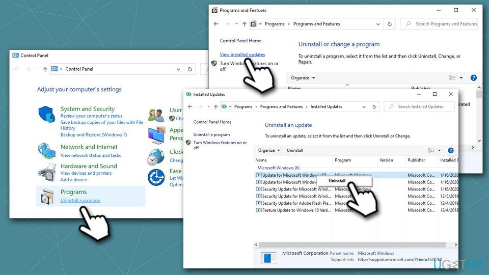 Reinstall Windows updates