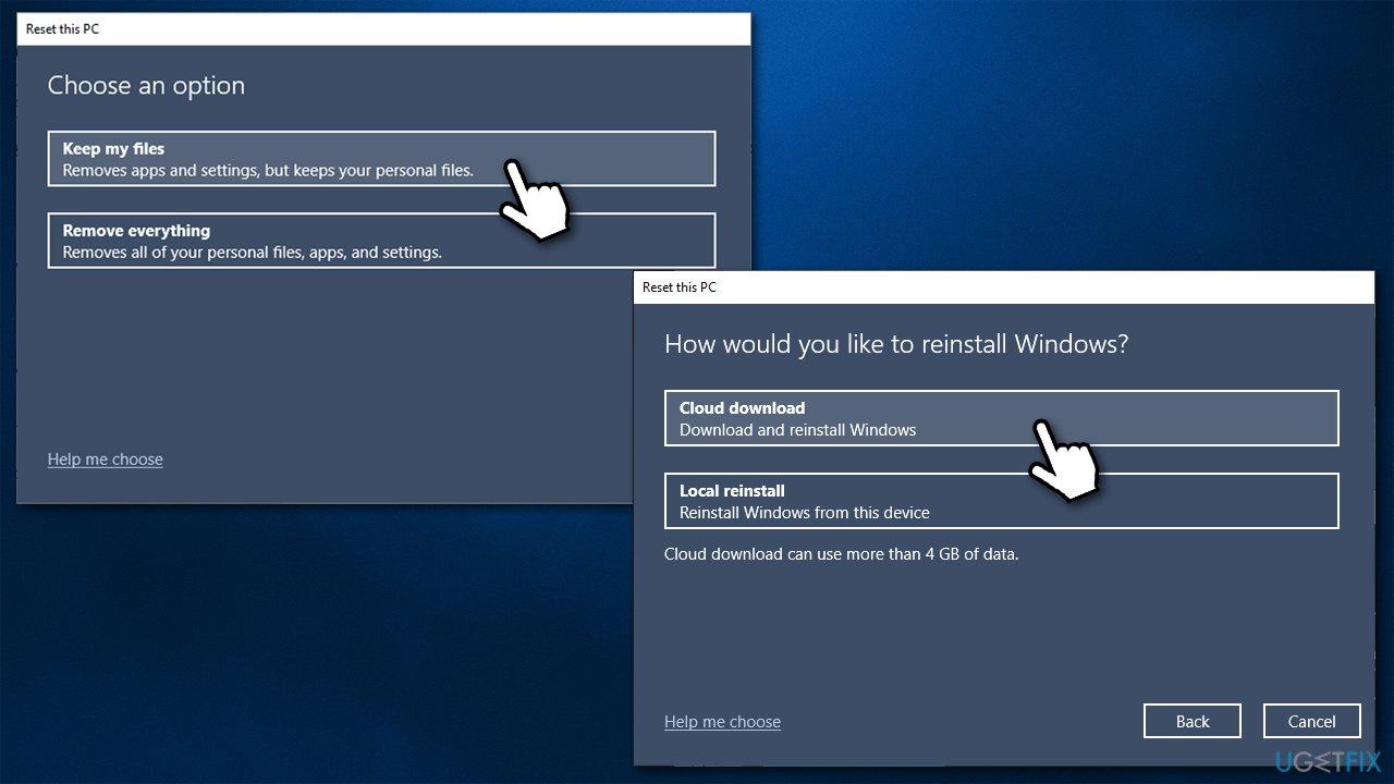 Reset Windows keep files
