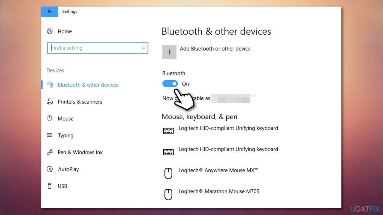 Turn Bluetooth on and off
