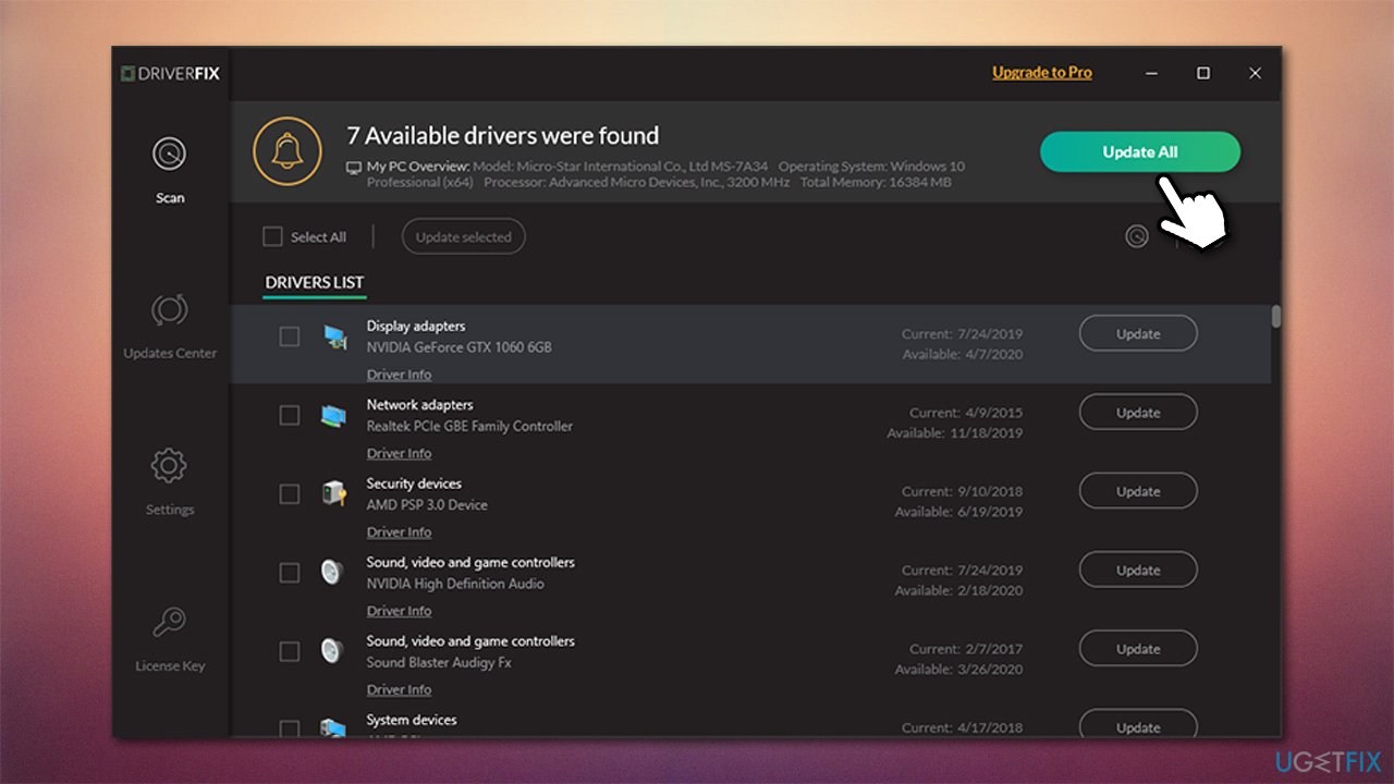 Update your drivers with DriverFix