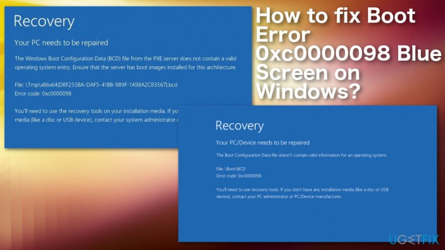 How to Fix Boot Error 0xc0000098 Blue Screen on Windows?