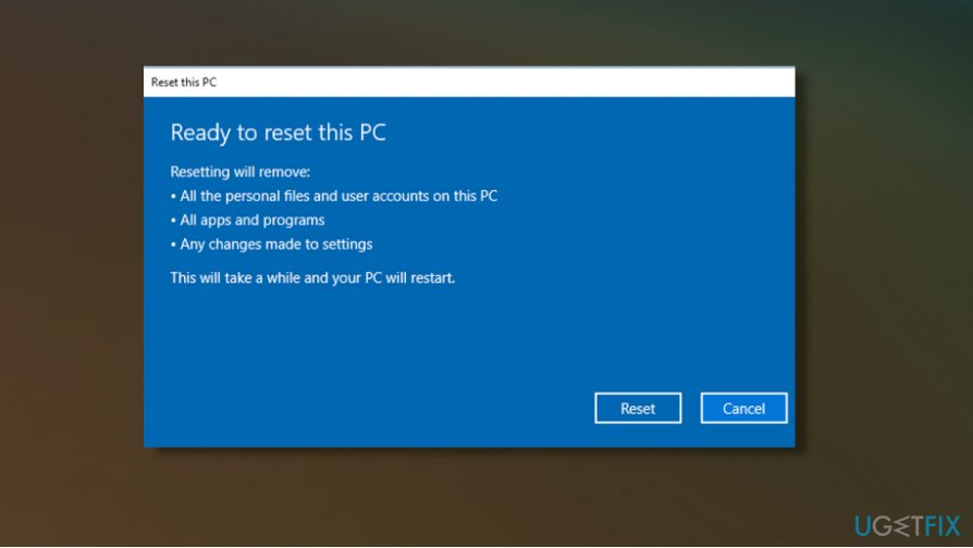 Restore PC to fix broken registry items in Windows