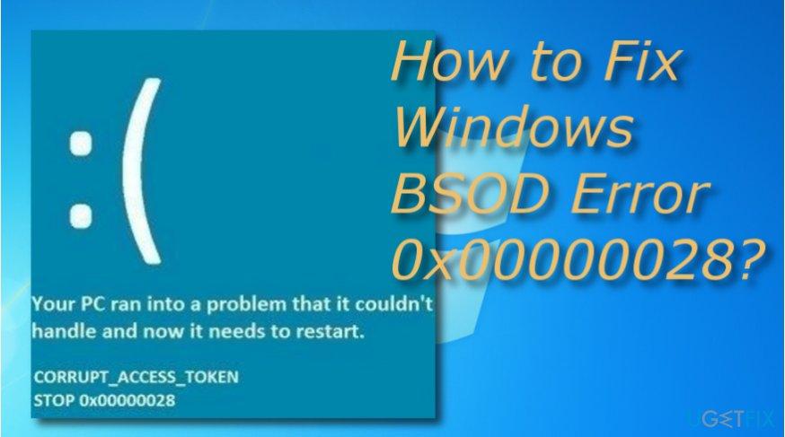Fix 0x00000028 error code