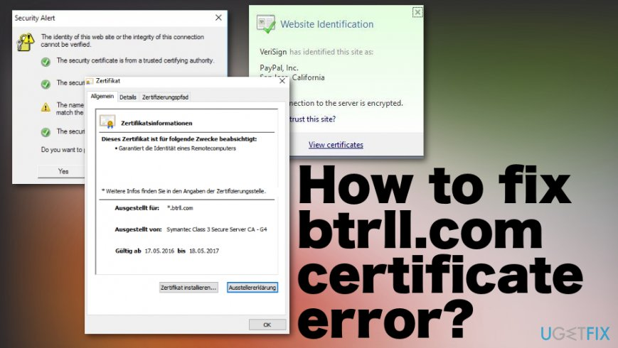 How to fix btrll.com certificate error
