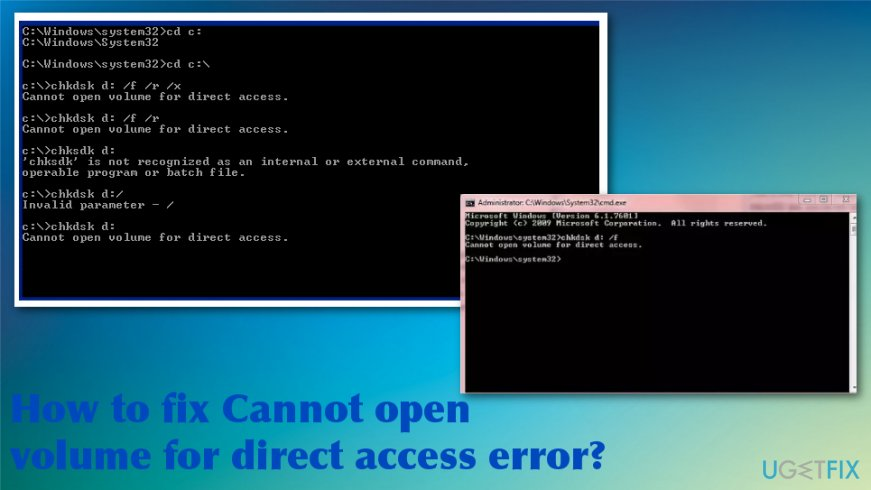 How to fix Cannot open volume for direct access error
