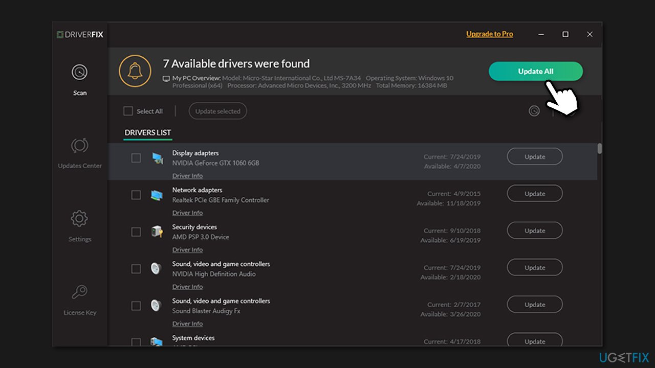 Use automatic driver updater