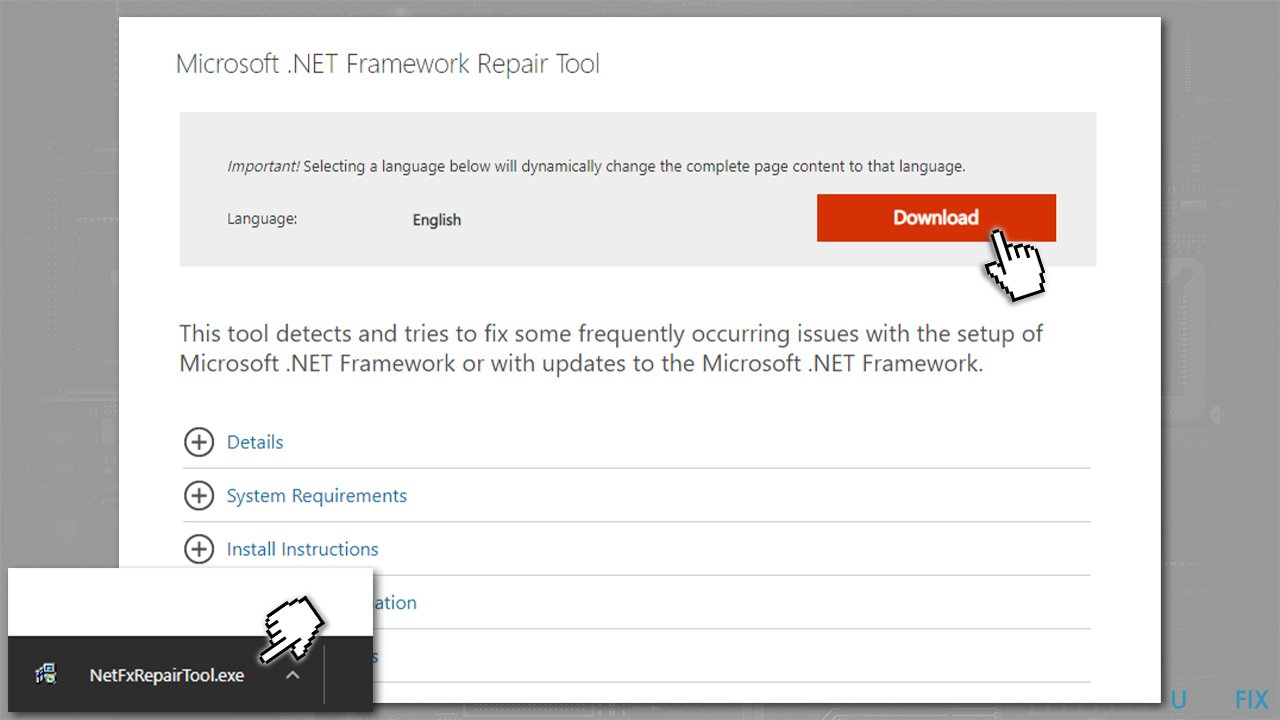 Download NET Framework fixer