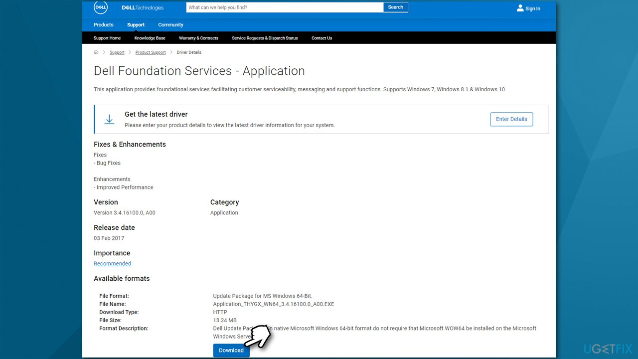 Reinstall Dell Foundation Services