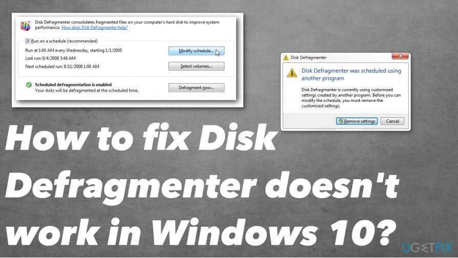 How to fix Disk Defragmenter doesn't work issue