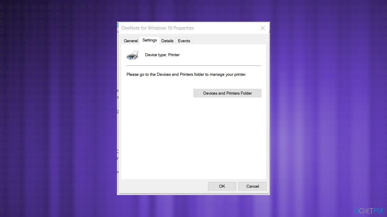 Device and printer folder