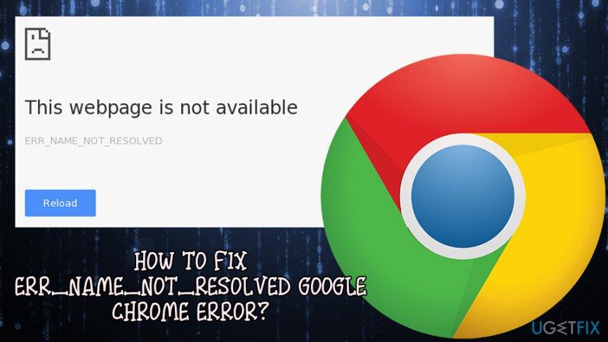 ERR_NAME_NOT_RESOLVED error