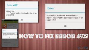 How to fix Error 492?