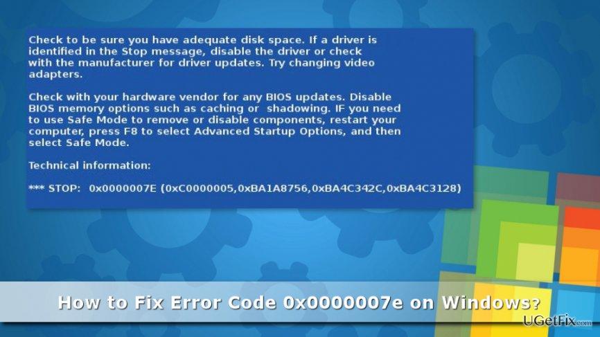 Picture of Error Code 0x0000007e