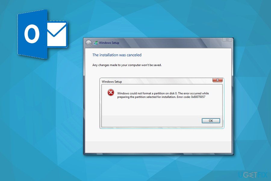 Error Code 0x80070057 fix during MS Outlook installation
