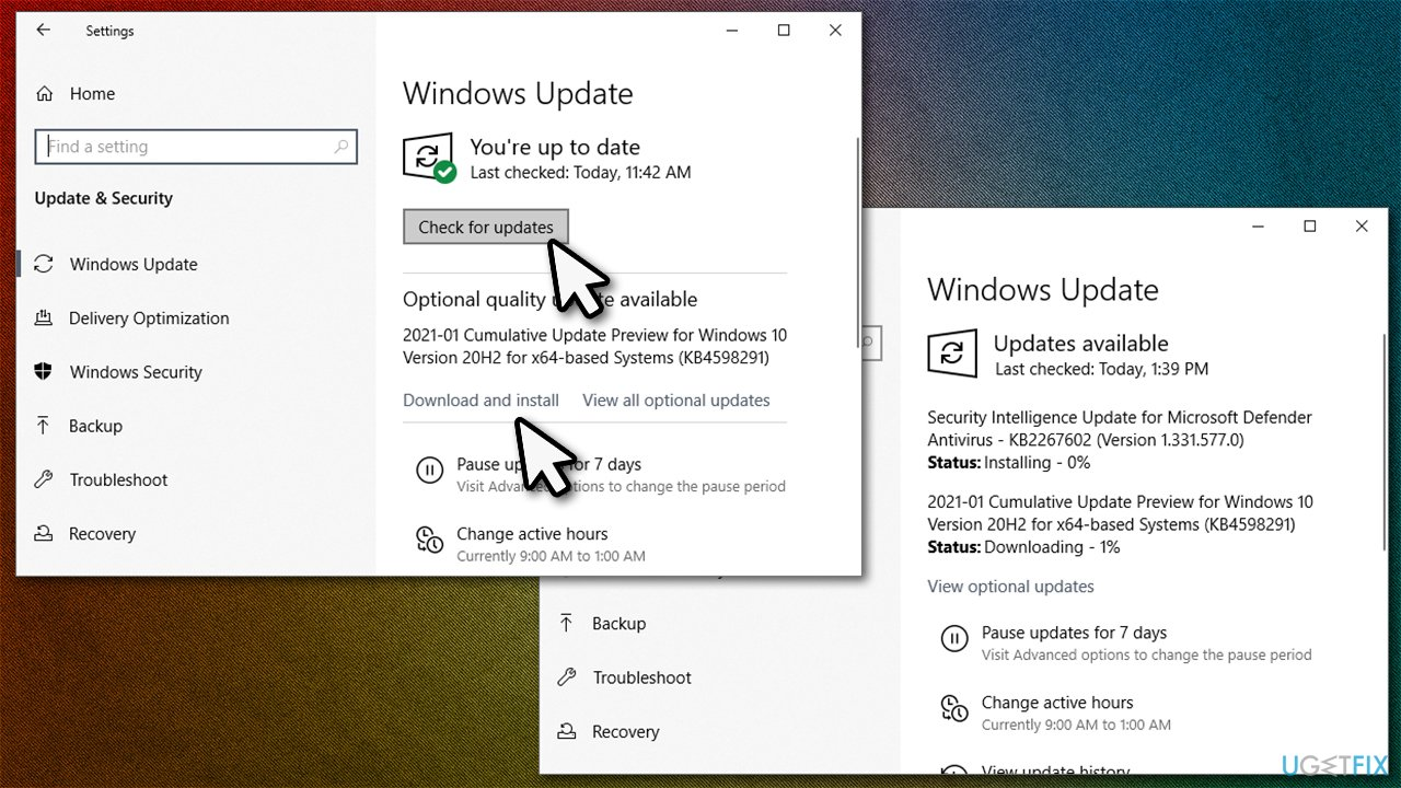 Install the latest updates