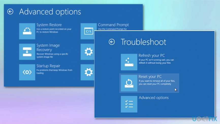 System restore and reset solution