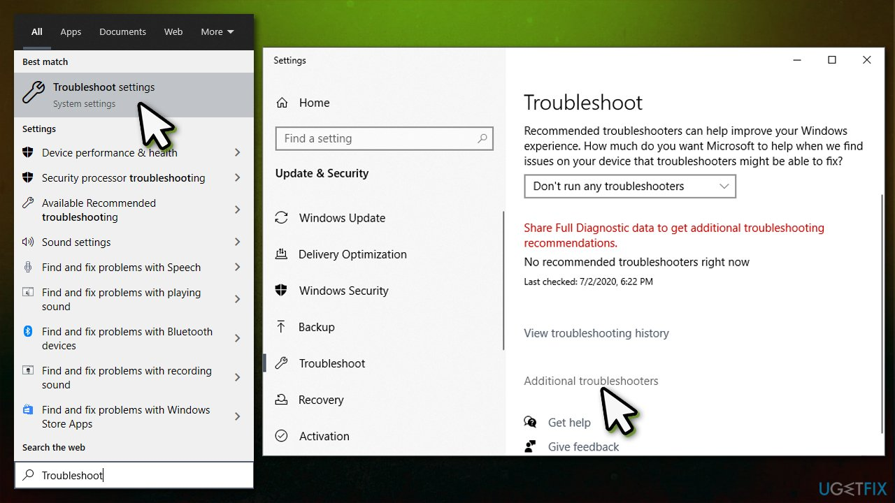 Access Additionaltroubleshooters