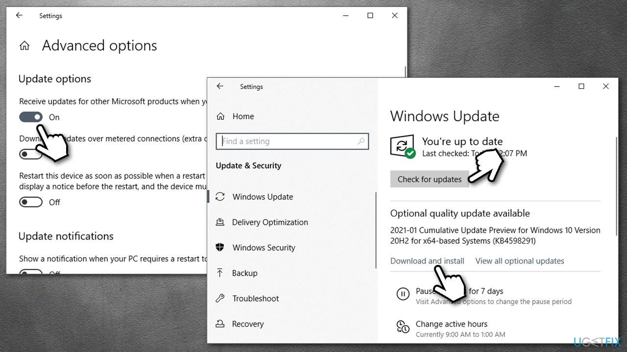 Install the latest Windows updates
