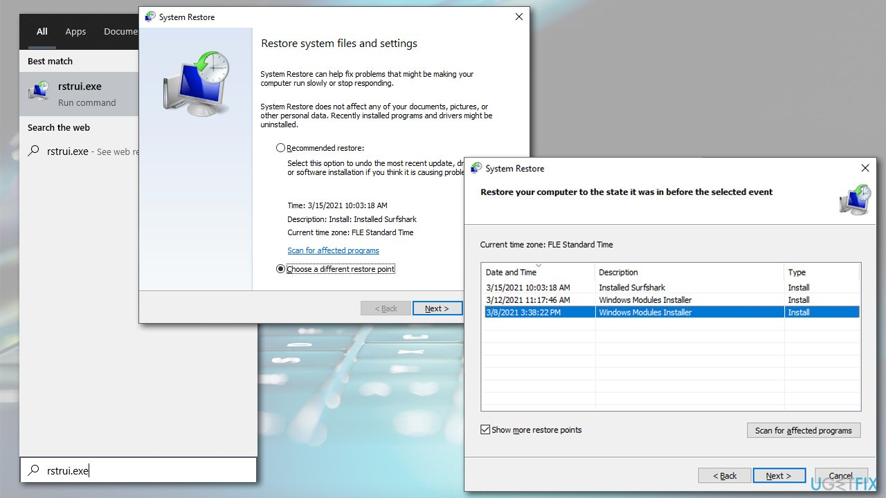 Use System Restore